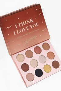 2017 Colourpop I THINK I LOVE YOU Pressed powder shadow palette Colourpop eyeshadow 12colors colour pop eye shadow