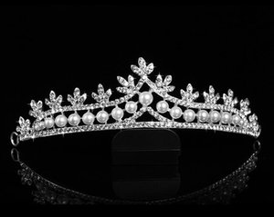 2017 barato elegante corona tocado corona de la novia adornos para el cabello adornos para la boda corona femenina envío gratis