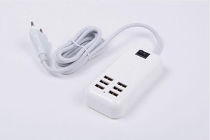 6Port EU 미국 영국 USB 전원 포트 홈 벽 여행 충전기 iphone4 5 6 6plus 삼성 도매 도매 AC 전원 어댑터