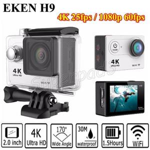 "H9 4 Karat Action Kamera Wifi Ultra HD 1080 p 60 fps 170 Grad Ansicht Wasserdicht 2 ""Mini Tauchkamera Sport Kamera Dhl-freies Verschiffen"