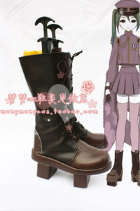 Wholesale-Anime VOCALOID Hatsune Miku Senbonzakura Boots Cosplay costume shoes Custom Made Halloween Free Shipping