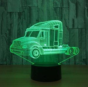 Christmas Gift 3D Trailer Shaped Night light LED 7 Colors Change Touch Desk Lamp Novelty Decoration Lamp