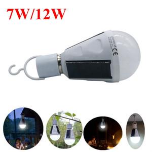 Umlight1688 Tragbare LED Solar Glühbirne 12W 720LM 7W 420lm wiederaufladbare Notbeleuchtung für Outdoor Indoor Camping Zelt Beleuchtung