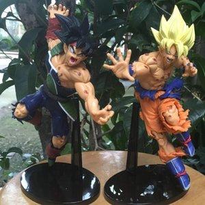 Nuovo PVC 2 pezzi / set Comic Dragon Ball Action Figure Goku Bardock Modello Giocattolo Anime Collezionismo Ragazzo Decorazione regalo di compleanno