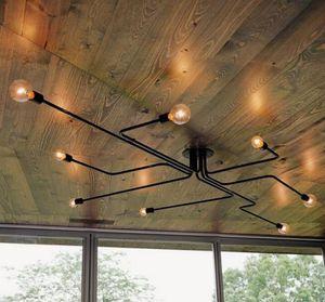 Para foyer sala de jantar restaurante braço de Ferro Retro industrial LOFT lâmpada do teto clássico moderno preto luz de teto do vintage