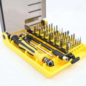 Venta al por mayor de precisión 45 en 1 Electron Torx MIni destornillador magnético conjunto de herramientas de herramientas de mano Kit de reparación de herramientas del teléfono H210602