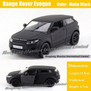1:36 Scale Diecast Liga Modelo de Carro De Metal Para Range Rover Evoque Coleção Modelo Licenciado Pull Back Toys Car - Matte Black