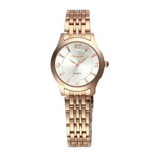 Boa qualidade dos homens das mulheres dos amantes do chaoyada à prova d 'água completa banda de aço inoxidável relógio de pulso de quartzo 30802