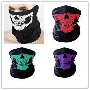 Fiesta festiva de Halloween Máscara de miedo Festival Máscaras de calavera Esqueleto Motocicleta al aire libre Bicicleta Múltiples máscaras Bufanda Máscara de media cara Cap Neck Ghost