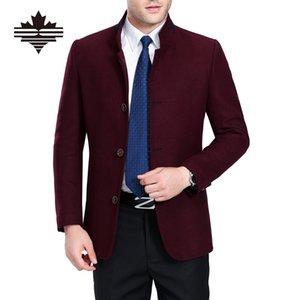 Fall-Winter Woolen Coat Men Autumn Wool & Blends Single Breasted Men's Woolen Jackets 3 Color Mens Casual Wool Coats Solid Outwear