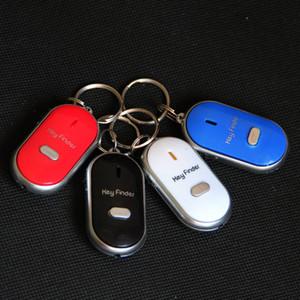 Anti-Lost Finder Sensor Alarma Whistle Key Finder LED Con Baterías Seguridad Clave Llavero Whistle Sonido LED Luz Alta Calidad