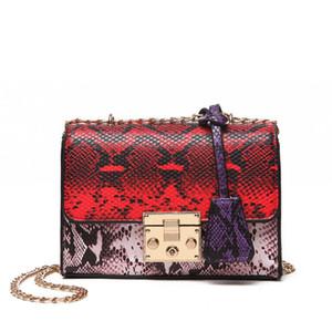 2020 Mulheres Crossbody Bag senhoras Cadeia Bolsas Serpentine PU Designer Bags famosa marca sacos de mulheres