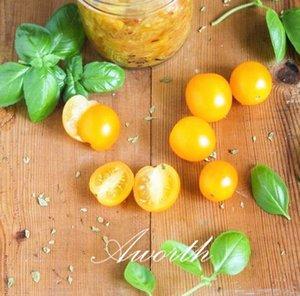 Sarı Kiraz Domates 100 Tohumlar Tatlı Sulu Olmayan Gdo Sebze DIY Ev Bahçe Bonsai Sebze Büyümek Kolay
