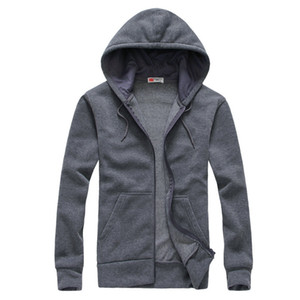 2018 Mens Hoodies and Sweatshirts Autumn Winter Lovers Casual With Hood Sports Jacket Men's Zipper Up Coat 5 Colors Hooded Jackets SQA53