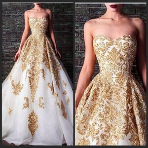 2019 Sweety White A Line Abendkleid Bodenlang Schnür Abendkleider Crystal Applique Illusion Sleeveless Vestido Vermelho
