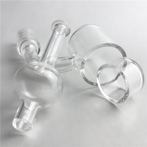 25mm XL Flat Top Quartz Banger Carb Cap Phat Bottom Thermal Skillet Nagel mit Insert-Tropfen Wände Eimer 10mm 14mm Glaswasserpfeifen