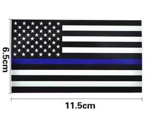 Adhésifs de décalque de drapeau de la ligne bleue américaine mince pour des camions de voitures - 2.5 * 4.5inch autocollant américain de drapeau des Etats-Unis pour la fenêtre de voiture