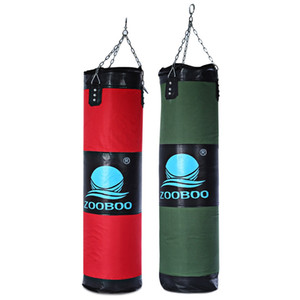 Zooboo 100 cm Boxing Punching Bag Fitness Sandbags Striking Drop Vuota Sacchetto di sabbia vuota Arte marziale Training Punch Target