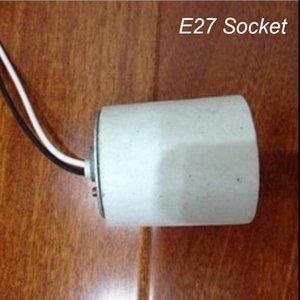 Atacado qualidade com cabo de arame E27 suporte da lâmpada spot spot light spotlight base de cabo de fio E27 suporte da lâmpada lâmpada