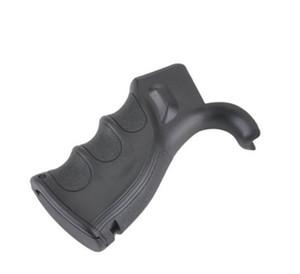 Impugnatura in polimero nero a pistola con scanalature per le dita per la difesa (nero) AR
