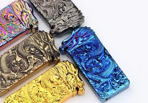 Accendini a induzione a scuotere Accendini ad arco Dragon Arc USB Accendino elettronico senza fiamma ricaricabile senza fiamma 5 colori con confezione regalo