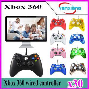 30 pcs Controlador Xbox360 New USB Com Fio Controlador Gamepad Para MICROSOFT Xbox 360 PC Computador YX-360-02