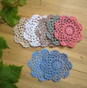 24 pçs / set ~ estilo Vintage crochet padrão floral rodada doilies em uso amplo, centrais do casamento delicado ~ Aprox. 8-10cm redondo