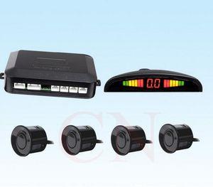 100 kits carro Auto Parktronic LED Sensor de Estacionamento com 4 Sensores Reverse Backup Car Estacionamento Radar Monitor Detector System Retroilumbar