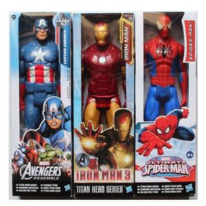 Os Vingadores PVC Figuras de Ação Marvel Heros 30 cm Homem De Ferro Spiderman Capitão América Ultron Wolverine Figura Brinquedos OTH025