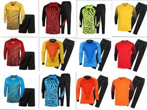 무료 배송 2019 성인 축구 골키퍼 저지 키즈 골키퍼 유니폼 롱 슬리브 정장 스펀지 프로텍터 슈트 Camisetas De Futbol Jer
