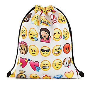 Mulher mochila Personalidade Multi Função Mochila de Armazenamento Adulto Bens de Viagem Emoji 3D Puxar Corda Ambos Os Ombros Saco de 9 ml C R