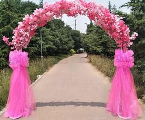Mariage haut de gamme pièces maîtresses de mariage en métal porte suspendue guirlande stands de fleurs avec des fleurs de cerisier pour festival fournitures MYY