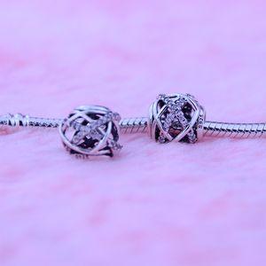 Бусины подходит для Пандора браслет аутентичные 100% стерлингового серебра 925 бусины Галактики ажурные стерлингового серебра кубического циркония 1шт/много