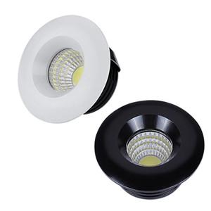 110V 220V 12V Dimmable LED Downlights Runde COB Mini-Spot-Einbau-LED-LED-Lampe für Kabinett-Home-Leuchten für Showcase-Treiber enthalten