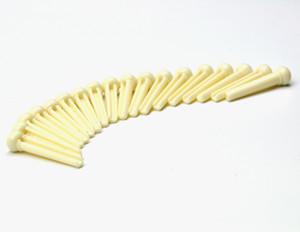 50pcs Universal guitarra acústica ponte pinos plástico marfim branco