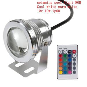 16 colores 10W 12V RGB Fuente de luz subacuática LED 1000LM Piscina Estanque Fish Tank Aquarium LED Lámpara de luz IP68 a prueba de agua