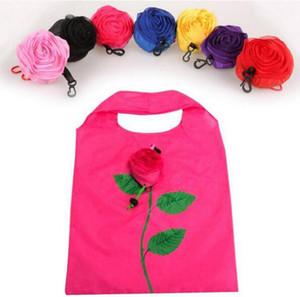Neue mode rose blumen wiederverwendbare faltbare aufbewahrungstasche einkaufstasche reise einkaufstüten tote drop shipping