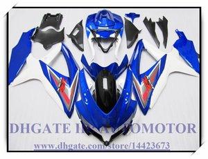 Инъекции 100% новый обтекатель комплект подходит для Suzuki GSXR600 k8 2008 2009 GSXR750 2008 2009 GSX-R600 GSX-R750 08-09 #8835D синий белый черный