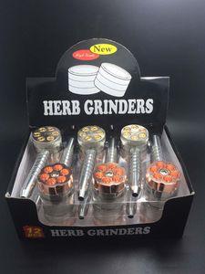 6 Shooter Handpfeife mit Metall Herb Grinder Zigaretten Tabakpfeife Set Herb Grinder mit Filter Net Dry Herb Vaporizer