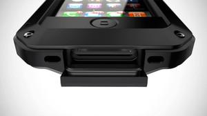 고급 충격 방지 방수 강력한 보호 알루미늄 강화 유리 금속 커버 휴대 전화 케이스에 대한 아이폰 4 4S