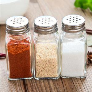 Vidrio caliente Salt Salt Shaker Shaker w / Acero inoxidable Cap Severing Tools Jar Herb Spice Storage