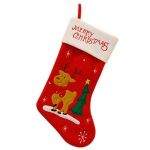 Bas de Noël Sacs de bonbons New Year Supplies Bonhomme de neige / Elk / Santa Claus Décoration de Noël pour bas de maison