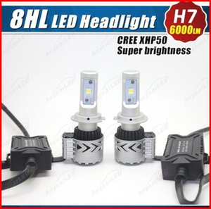 2016 1 satz H7 80 Watt 8000LM CREE LED Scheinwerfer System Kit. 8G XHP-50 Chip Einstellbarer Halter Lüfterlos All in One 6500 Karat Einstrahl-treibender Nebel