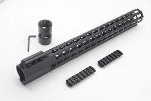 전술 Ultralight AR15 M4 M16 무료 float 핸드 가드에 대한 15 인치 키 모드 Picatinny 레일 무료 배송