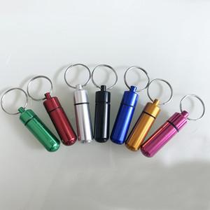 4 크기 작은 EmergencyBottle 휴대용 키 체인 상자 방수 스토리지 카세트 키 체인 캡슐 스토리지 컨테이너 여행 스플리터