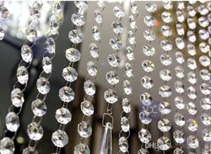 66 FT Cristal Garland Strands 14mm acrílico crystal clear octagon beads Festa de Casamento cadeia Manzanita Árvore Pendurado Decorações Do Casamento