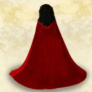 고딕 양식의 후드 벨벳 망토 고딕 양식의 위카 로브 중세 마법 LARP 케이프 여성 웨딩 재킷 랩 코트