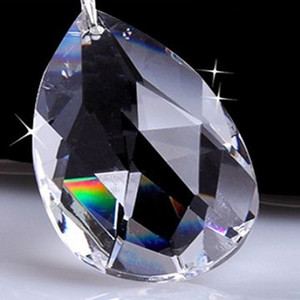 New Beautiful 20mm trasparente vetro artificiale sfera di cristallo prisma pendente pendente distanziatore perline casa matrimonio lampada lampadario decorazione