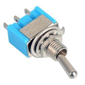10Pcs Blue Mini MTS-102 Interruptores de palanca miniatura SPDT ON-ON 6A 125VAC B00048 BARD