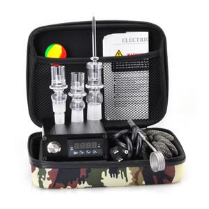 Pas cher E Quartz Nail Électrique Dab Nail Box Kit Quartz Nail Carb Cap 14 18 MM Contrôleur de Température Mâle Rig verre Bongs